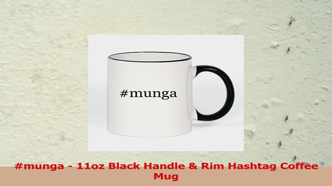 munga  11oz Black Handle  Rim Hashtag Coffee Mug 2a25db24