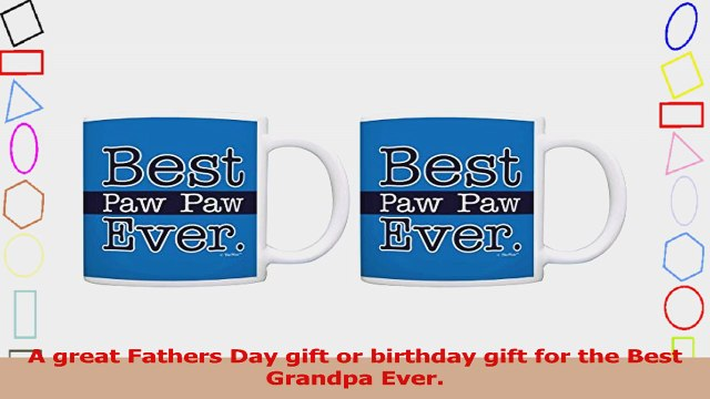 Grandpa Gifts Best Paw Paw Ever Fathers Day Gifts 2 Pack Gift Coffee Mugs Tea Cups Blue 63dc0342