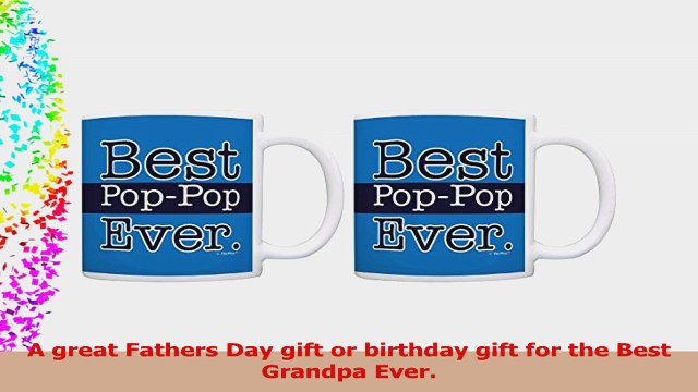 Grandpa Gifts Best PopPop Ever Fathers Day Gifts 2 Pack Gift Coffee Mugs Tea Cups Blue 3c02e381