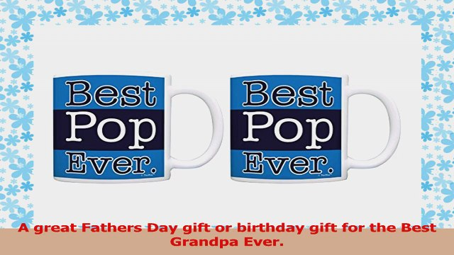 Grandpa Gifts Best Pop Ever Fathers Day Gifts 2 Pack Gift Coffee Mugs Tea Cups Blue f869ed0c