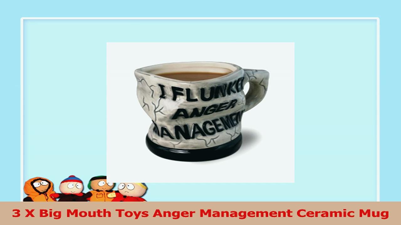 3 X Big Mouth Toys Anger Management Ceramic Mug 550c53e6