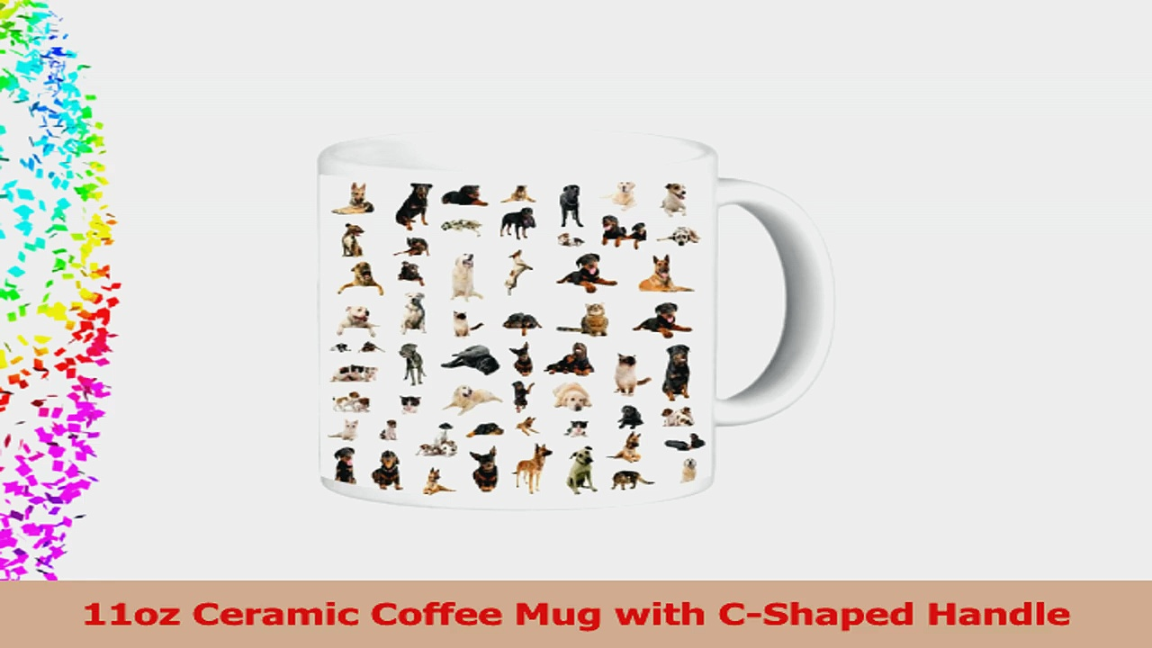 Rikki Knight Ceramic Coffee Mug Dogs Puppies and Cats 5547549b
