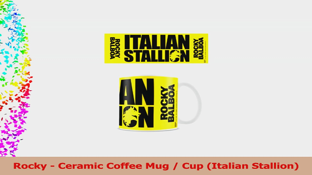 Rocky  Ceramic Coffee Mug  Cup Italian Stallion 1662e812
