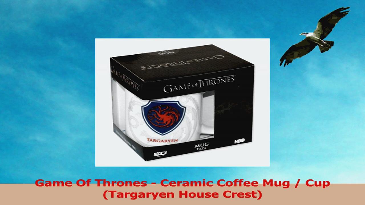 Game Of Thrones  Ceramic Coffee Mug  Cup Targaryen House Crest d0596868