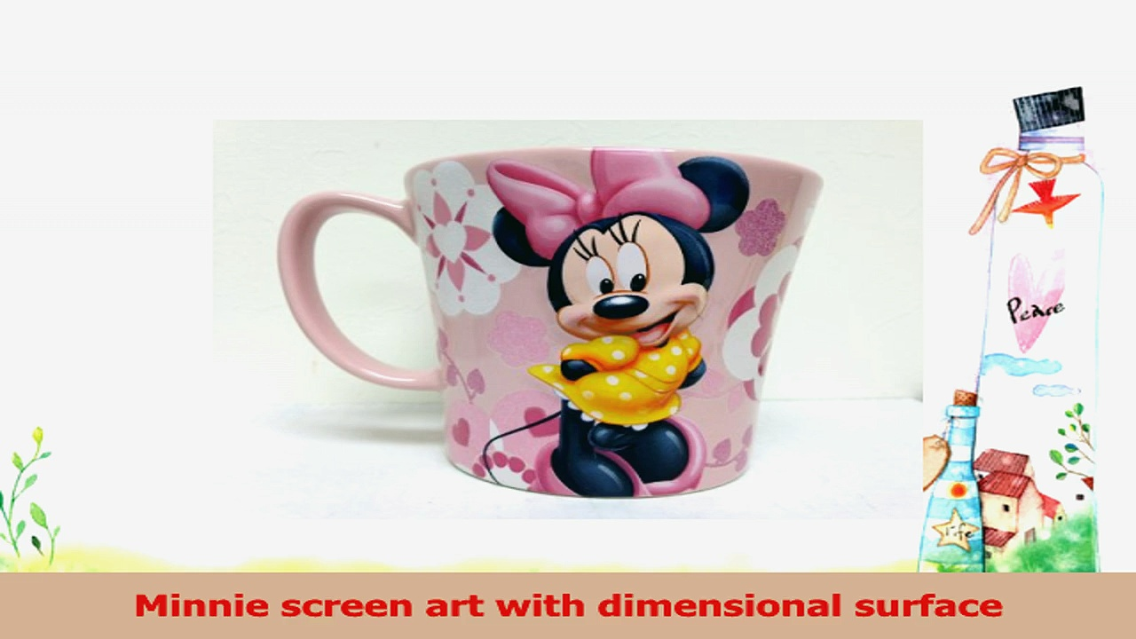 Authentic Disney Exclusive Minnie Mouse Pink Glittery Ceramic Coffee Mug f163b488