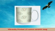 TreeFree Greetings lm43674 Contemporary Cream Swirls by Shell Rummel Ceramic Mug with 996dc522