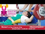 Women's -67 kg, -73 kg and -79 kg | 2015 IPC Powerlifting Open Americas Championships, Mexico City