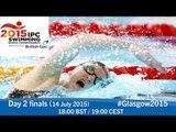 Day 2 finals | 2015 IPC Swimming World Championships, Glasgow