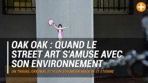 Oak Oak : quand le Street Art s'amuse avec son environnement