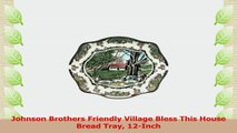 Johnson Brothers Friendly Village Bless This House Bread Tray 12Inch a9acdbba