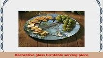 CounterArt Beautiful Songbirds Lazy Susan Glass Serving Plate 3221f6ac