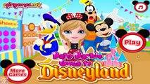Baby Barbie Goes to Disneyland Princess Barbie Dress Up Game for Girls