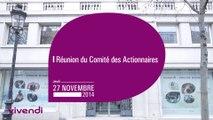 Réunion du Comité des Actionnaires Vivendi du 27 novembre 2014