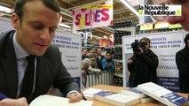 VIDEO. Saint-Pierre-des-Corps : Macron en visite à l'hypermarché