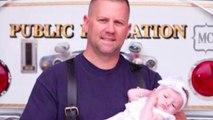 Firefighter adopts baby girl he delivered during emergency call