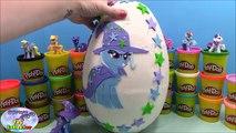 MY LITTLE PONY Giant Play Doh Surprise Egg TRIXIE LULAMOON - Surprise Egg and Toy Collector SETC