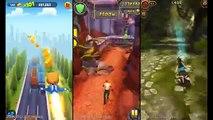Talking Tom Gold Run Vs Temple Run 2 Vs Lara Croft: Relic Run!