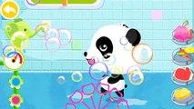 Baby pandas Bath Time l Cute Animals, bath toys and bubbles