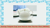 Jomop Teapot Cup and Saucer Set Tea for One White 0bcd9294