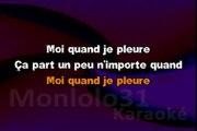 Céline Dion - Moi quand je pleure KARAOKE / INSTRUMENTAL