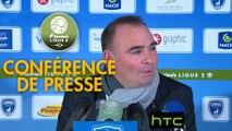 Conférence de presse Chamois Niortais - ESTAC Troyes (3-2) : Denis RENAUD (NIORT) - Jean-Louis GARCIA (TROYES) - 2016/2017