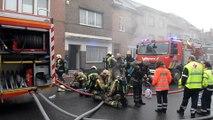 Incendie rue Jules Cornet à Mons. Vidéo Eric Ghislain