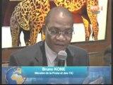 Le ministre de la poste face à la presse nationale et internationale
