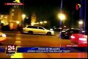 Miraflores: jóvenes salvan de morir en supuesta carrera de 'piques'