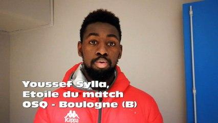 Youssef Sylla, élu Etoile du match OSQ - Boulogne (B)