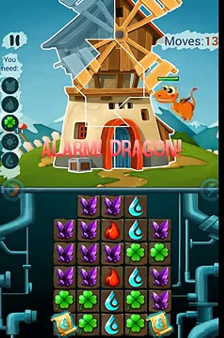 Naughty Dragons: Match3-Puzzle Android Gameplay (HD)