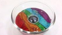 1000 Degree Ball VS DIY Glitter Slime Clay Learn Colors Slime Icecream Toys