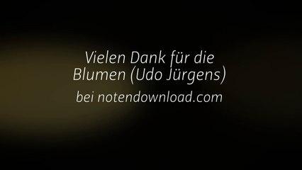 Noten bei notendownload - Vielen Dank für die Blumen (Udo Jürgens)