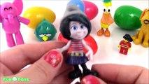 POCOYO Surprise Eggs Pocoyo Toys ELLY PATO LOULA LEGO PEPPA PIG SMURFS MOSHI MINIONS OPENING
