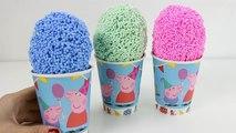 Peppa Pig Foam Clay Surprise Toys Frozen Elsa Minnie Mouse Mickey Mouse Surprise Eggs