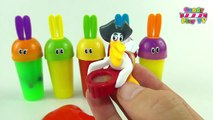 Learn Colours with Slime Surprise Toys Party | Learn Colors with Surprise Bunny Slime