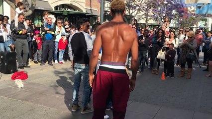 # Dance Battle - with street performer in LA  [Poppin Hyunjoon 팝핀현준]