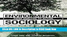 [Popular Books] Environmental Sociology: From Analysis to Action FULL eBook