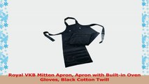 Royal VKB Mitten Apron Apron with Builtin Oven Gloves Black Cotton Twill 37e8f6d7