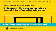[Popular Books] Linear Programming and Its Applications (Undergraduate Texts in Mathematics) FULL
