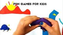 Play Doh Mountain, Fish, Home, Apple, Car, Sun, Gulls, Cloud, Tree - Play Dough
