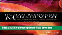 [PDF] Human Resources Management for Public and Nonprofit Organizations: A Strategic Approach