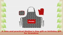 Mothers Day Gift Grandma Script Apron for Cooking Funny Aprons 3piece Cooking Apron Set a8d9458a