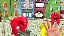 Fat hulk Finger family Dinosaurs gorilla 3d animation cartoon - Frozen elsa Finger family Rhymes