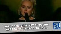 Adele s'interrompt en pleine reprise de George Michael et recommence