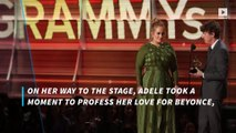Grammys 2017: Adele literally gave half her Grammy to Beyonce