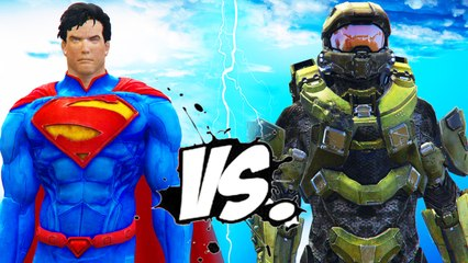 SUPERMAN VS MASTER CHIEF - EPIC BATTLE