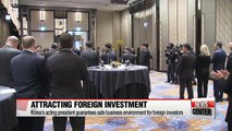 Korea's acting president guarantees safe business environment for foreign investors