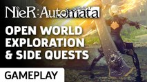 Open World Exploration, Side Quests, and Combat - Nier: Automata Gameplay