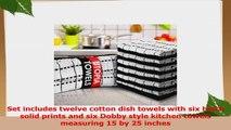 Utopia Towels Kitchen Towels 12 Pack 15x25 Inch Pure Cotton Machine Washable 6 Black and bf52421c