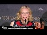 Blanchett déclare son amour à Cotillard à Cannes